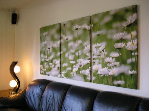 Flower wall panel
