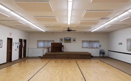 Community hall acoustics